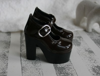 Chocolate Brown Patent Platform