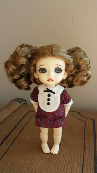 "5""-6""  Curled ponytails"