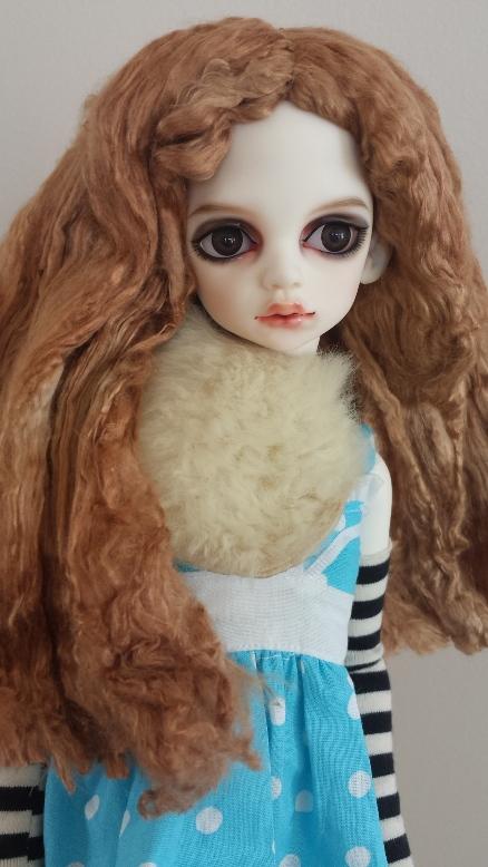 """7""""-7.5"""" Strawberry Caramel fiber wig"""