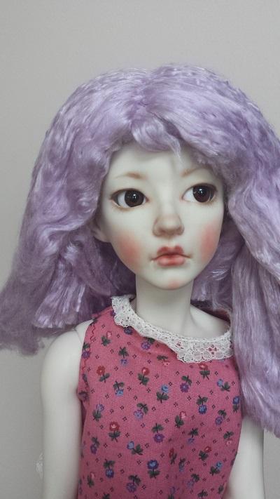 "8""-9"" Lavender Silk wig"