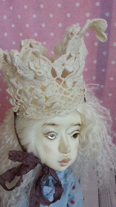 "9"" Vintage Crocheted Crown"
