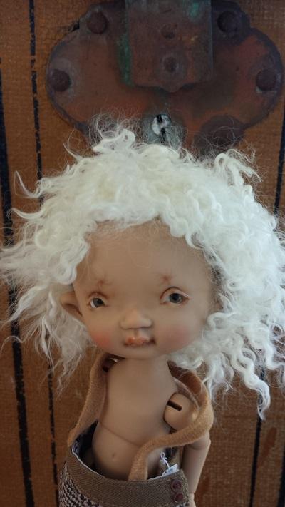 """6.75"""" Nappy tiny natural spiral wig"""