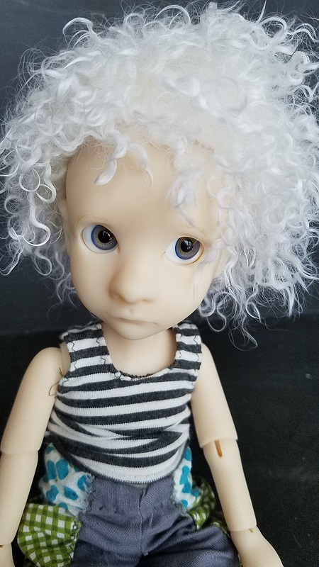 "7"" pure white Short Mohair"