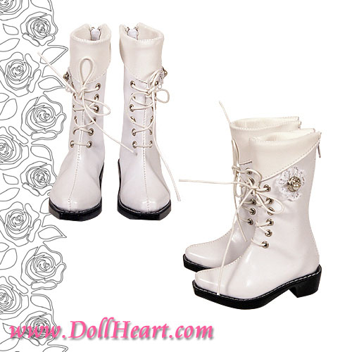 White formal boot