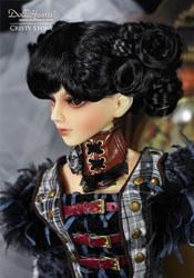 """Black Steampunk wig 8-9"""""""