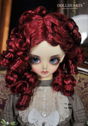 """Red curled wig 8.5-9.5"""""""