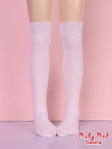 White knee-hi stocking
