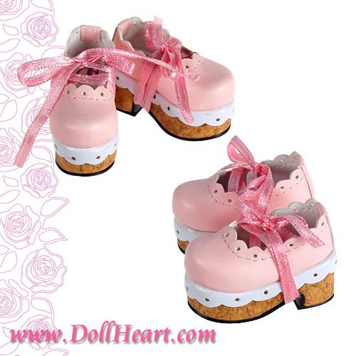 Pink cork sole
