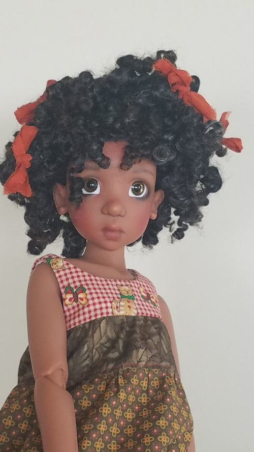 "8.5"" natural fiber lock wig"
