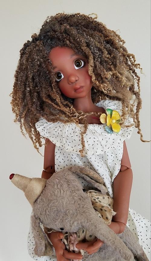 "8.5"" Long natural dread wig"