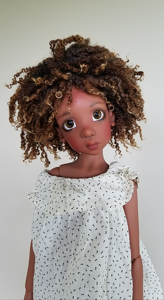"""9"""" tiny ringlet wool wig"""