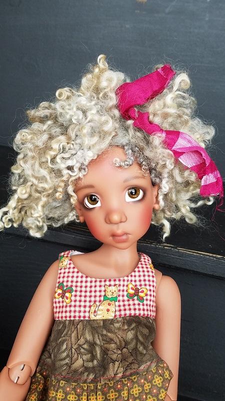 """8""""-8.5"""" Wool ooak wig"""