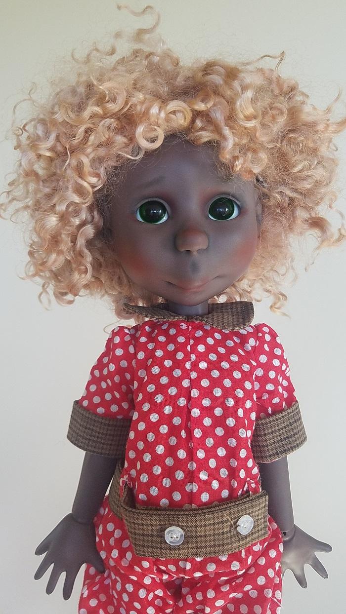 "Strawberry Blonde Angora ooak wig 11"""
