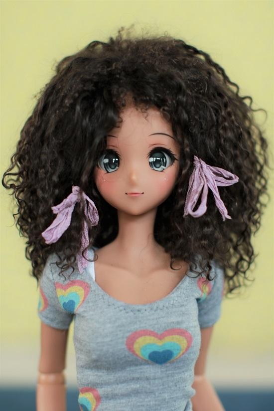 """8.5"""" Brown Tibet mohair wig"""
