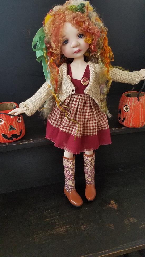 """Autumn 8"""" ooak wig"""