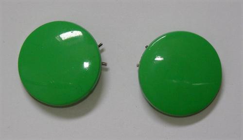 Vintage green barrettes