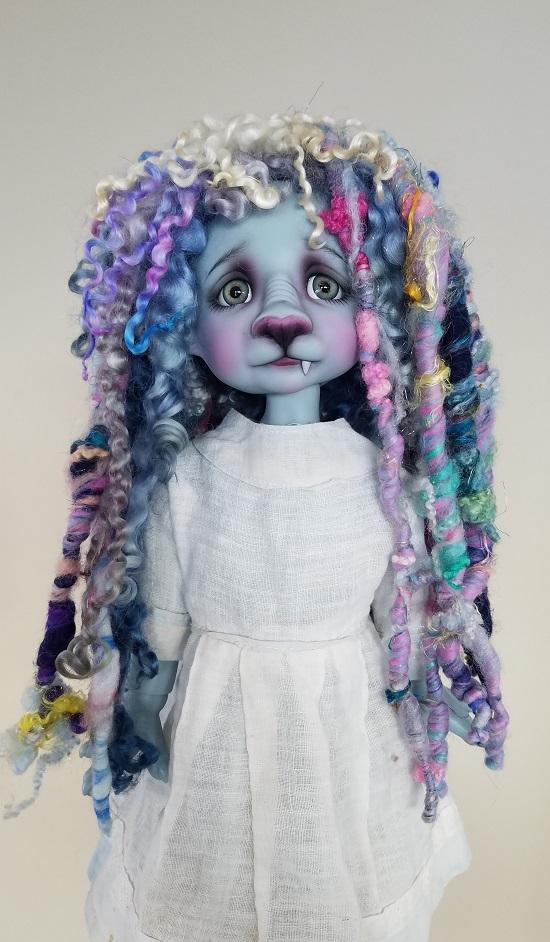 """9"""" handspun yarns wig"""