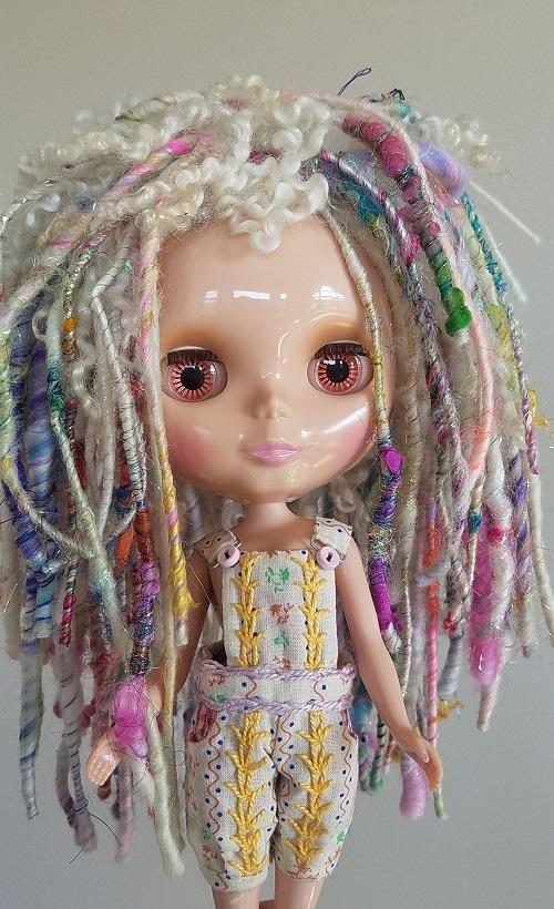 OOAK Dread locked candy spun wig