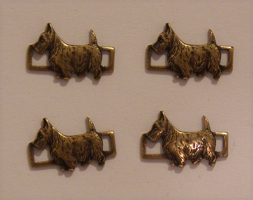 Brass Scottish Terrier connector