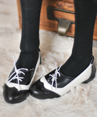 Black toed loafer