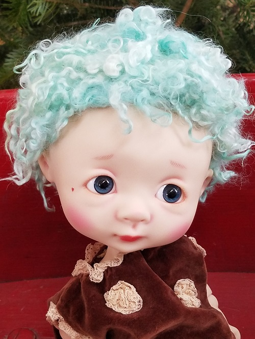 "14"" Angora baby locks Oscar wig"