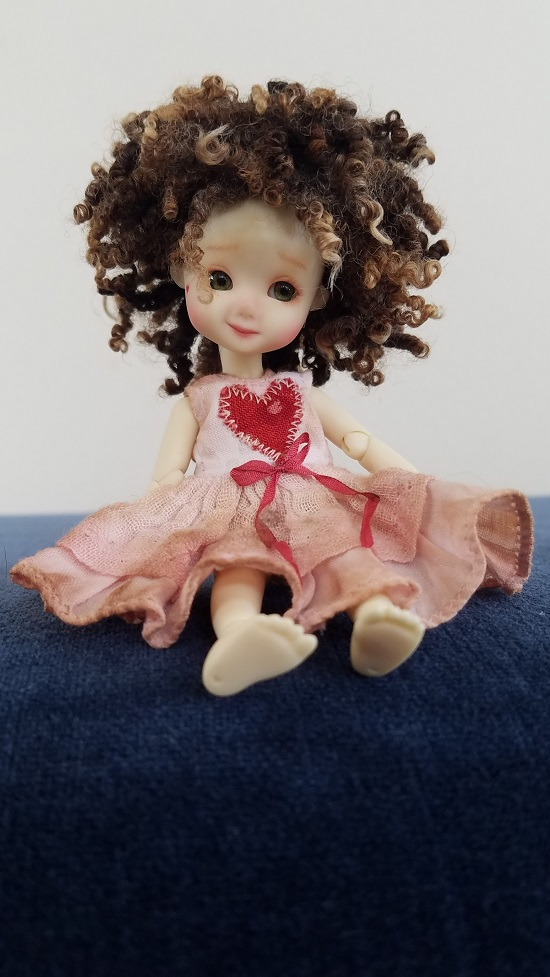 """Tiny 4"""" natural wool wig**RESERVED"""