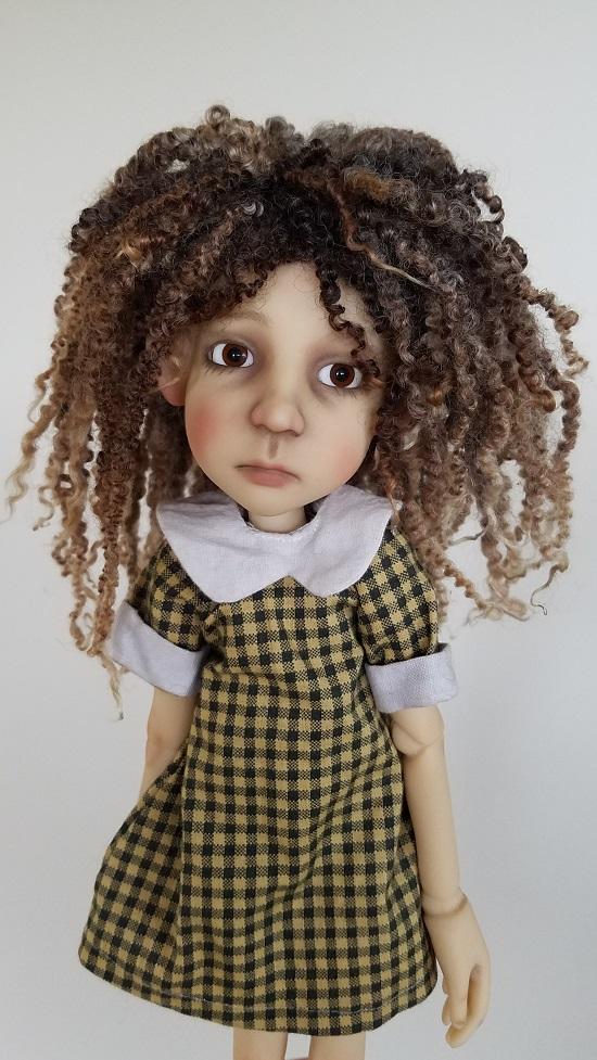 "7"" dread lock wool wig"
