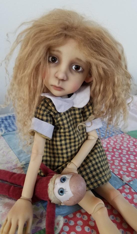 """7"""" Little Stella size Light Brown mohair"""