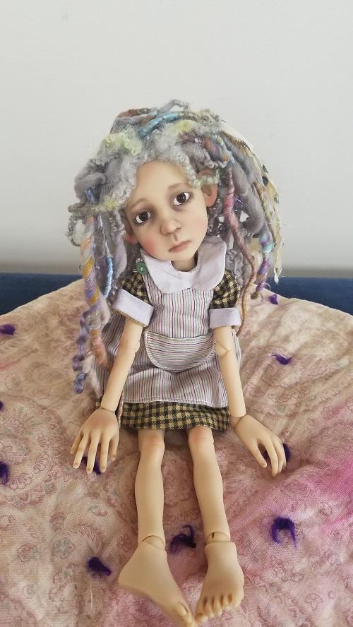 """7"""" OOAK wools rag wig"""