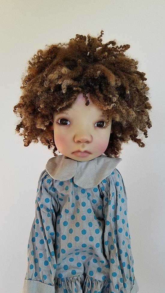"13"" Natural wool lock wig"
