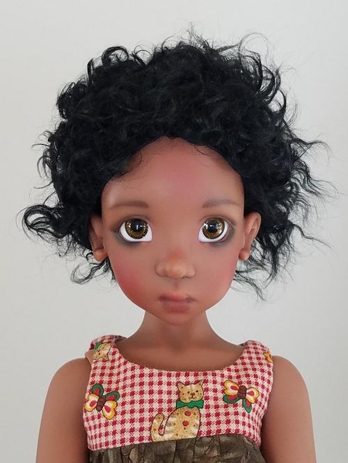 """8.5"""" Short Jet Black wig"""