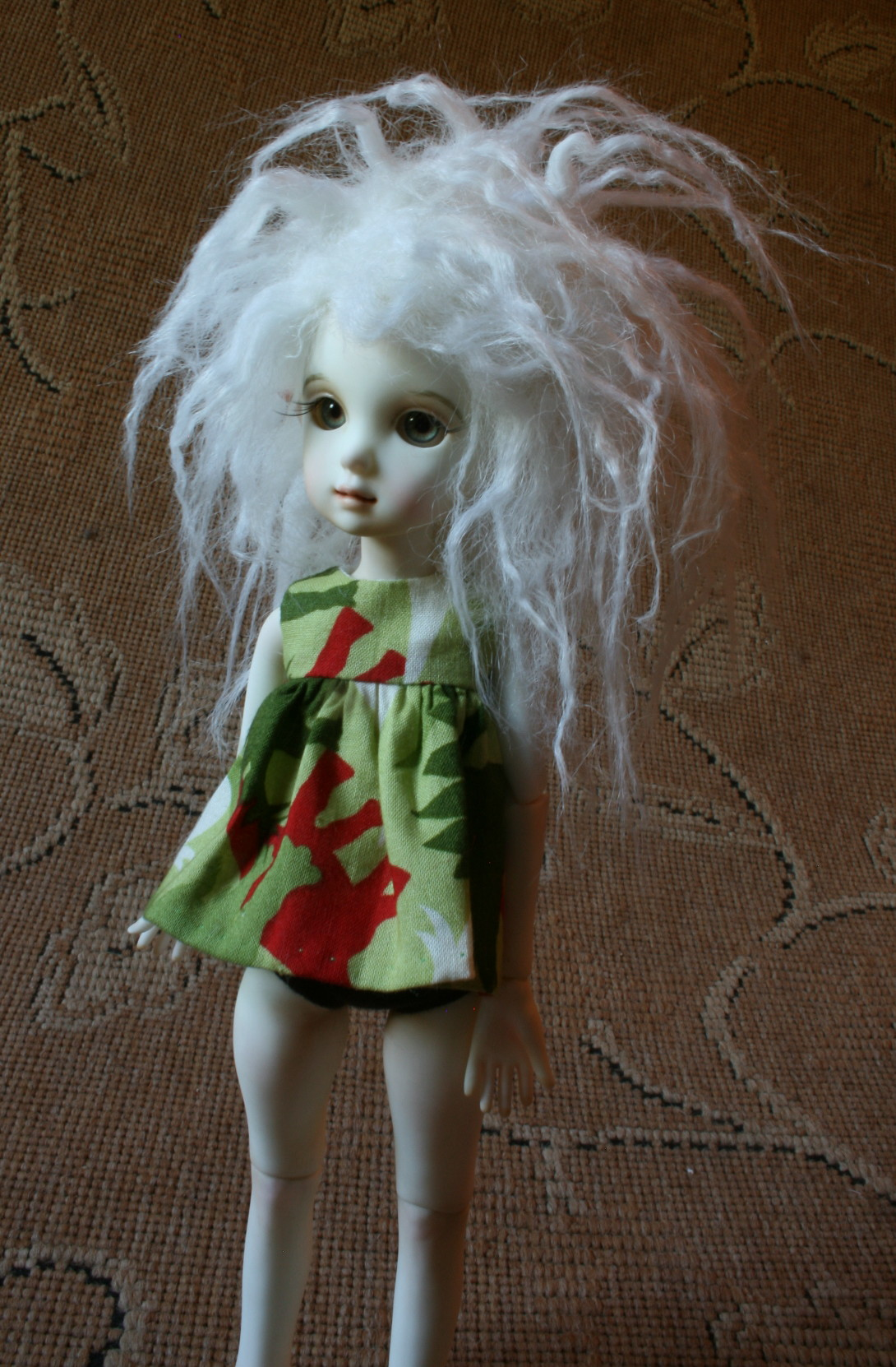"Faux fur Mohair wig 6"""