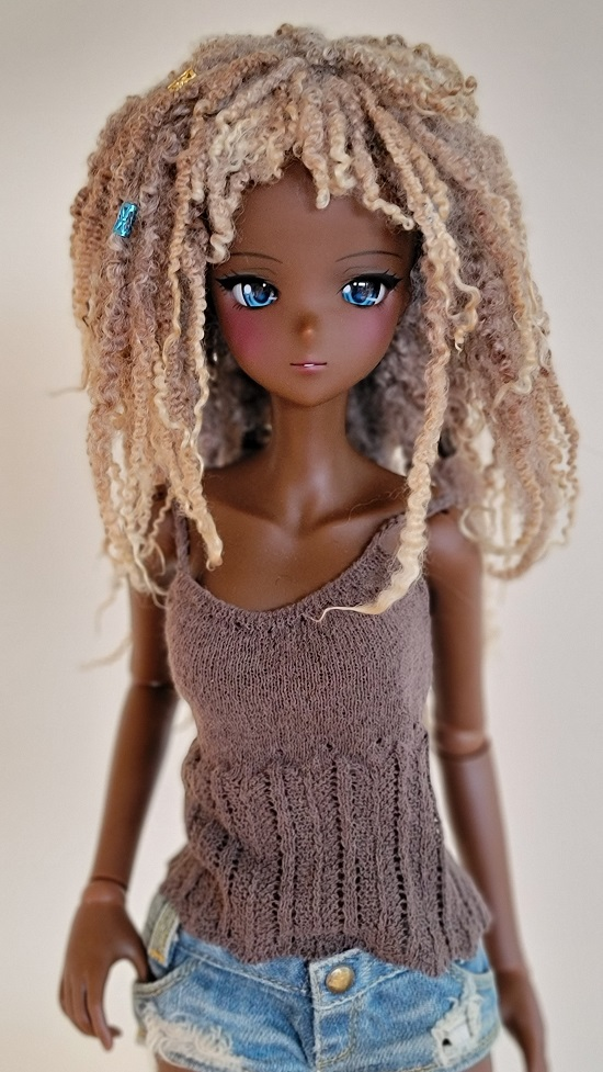 "8""-9"" soft greys long lock wig"