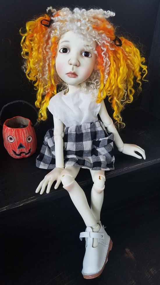 "Fun and Funky Candy Corn Wig size 12""!"
