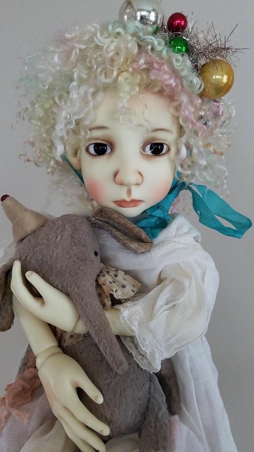 "12"" ooak angora pastel wig"