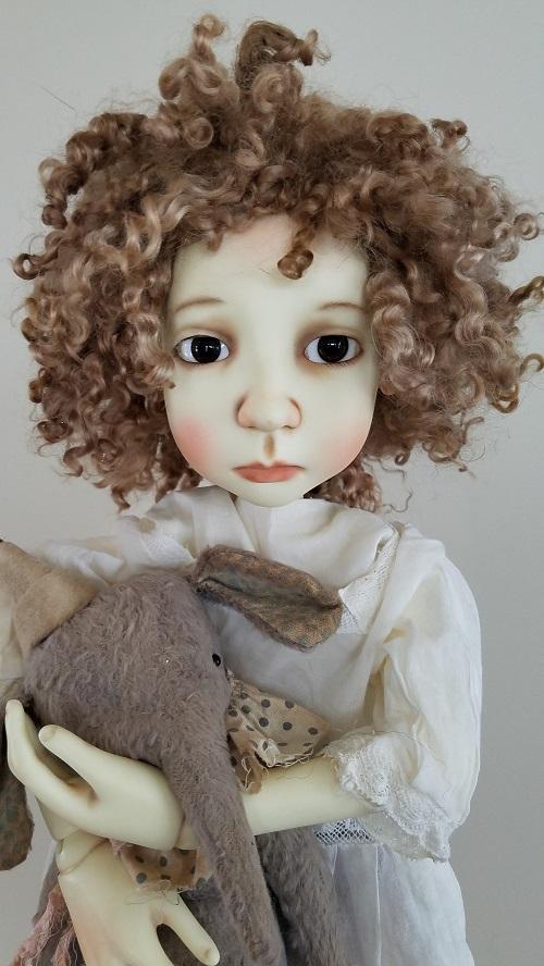 "12"" ooak Angora wig"