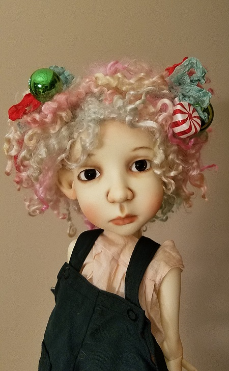 "11""-12"" Angora pastel wig"