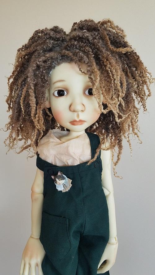 "12"" Natural lock fiber wig"