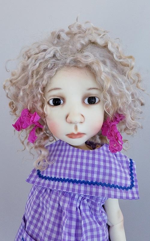 "12"" Blonde Angora wig"