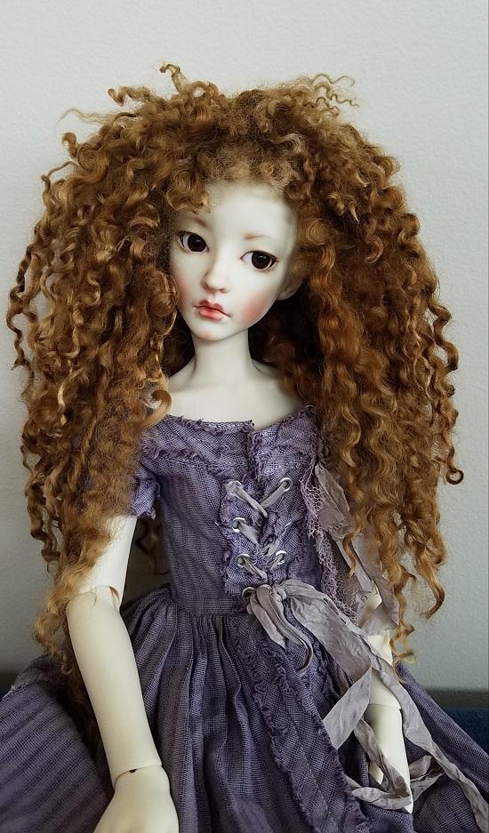 "9"" Teeswater auburn wig"