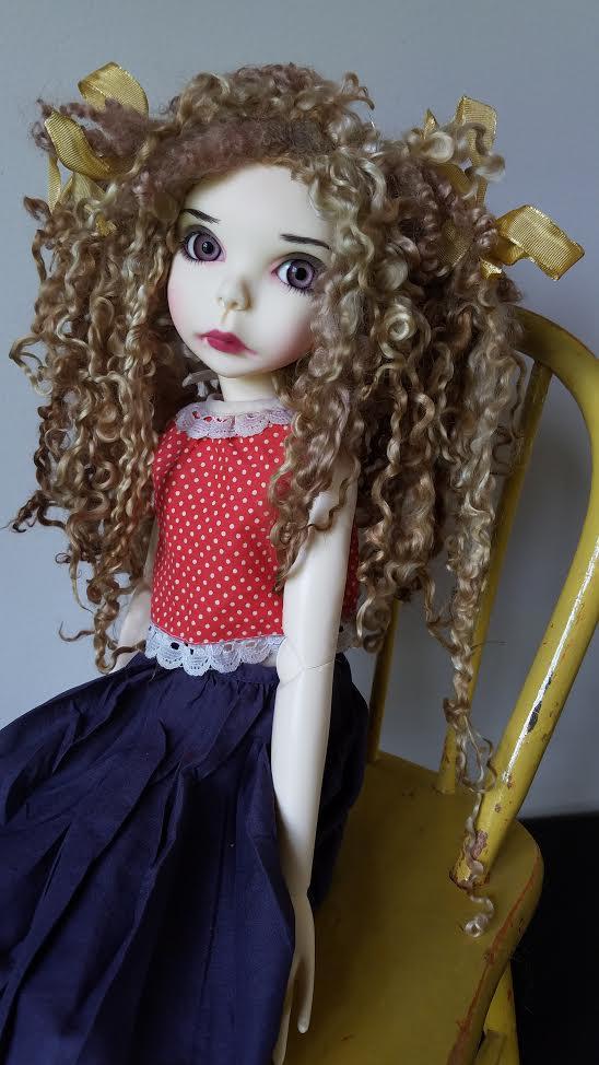 """10""""-11"""" Teeswater ooak wig"""