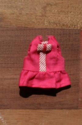 Vintage pink bow dress